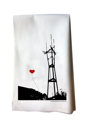 SF Lover's Sutro Tower tea towel