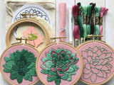 DIY Sweet Succulents Embroidery Kit