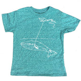 Whale with Kite Kid's T-Shirt