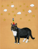 Cat Unicorn Greeting Card