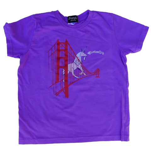 Unicorn on the Golden Gate Bridge Kid's T-Shirt