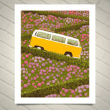 VW Buses in San Francisco Metal Prints 16x20