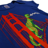 Dinosaur on the Golden Gate Bridge Baby Onesie