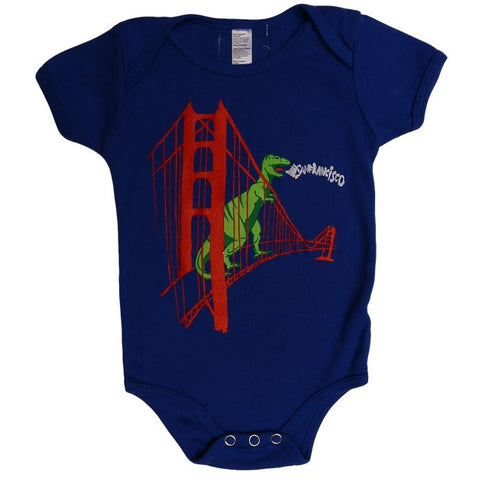 Dinosaur on Golden Gate Bridge Onesie