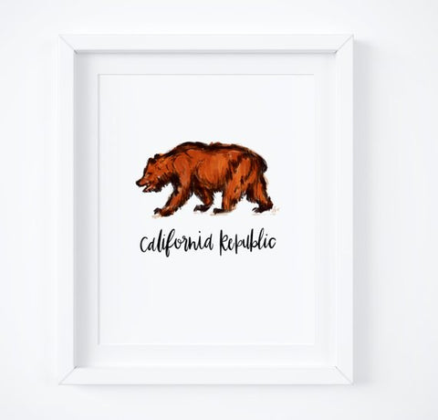 California Bear print