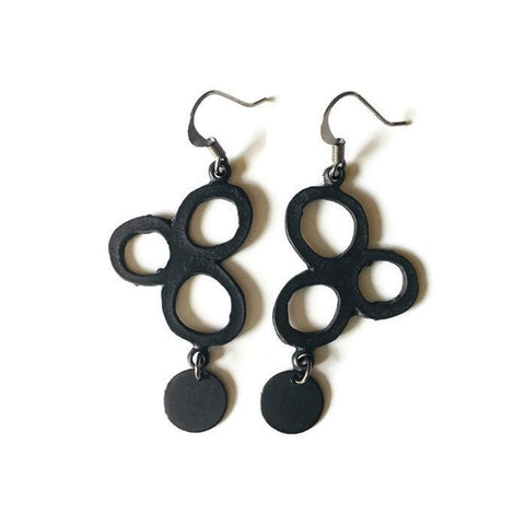 Modern Circle Cluster Earrings