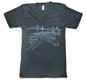 Ferry Building Unisex Vneck T-Shirt