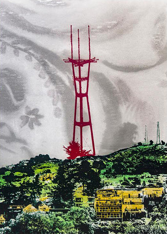 Sutro Gray Skies Wood Mounted Print