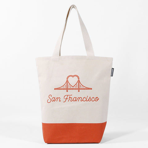 Heart Bridge Tote Bag
