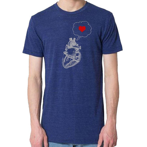 Thinking of Hearts Men's T-Shirt