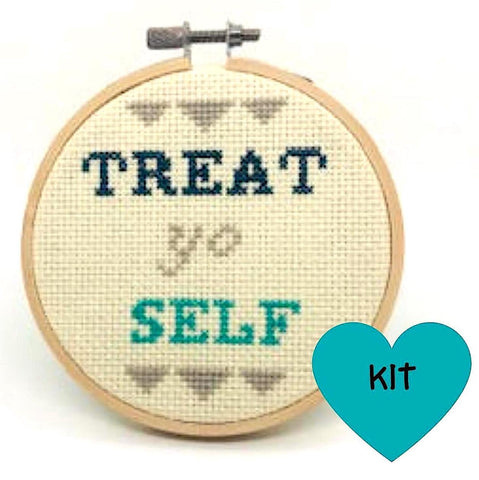 Treat Yo Self Cross Stitch Kit