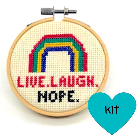 Live Laugh Nope Cross Stitch Kit