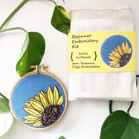 Sunny Sunflower Embroidery Kit