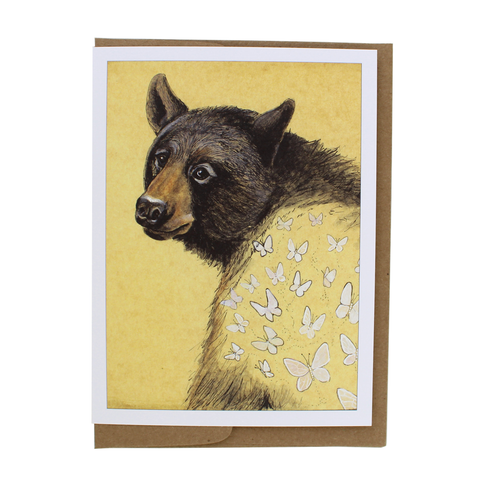 Butterflies Bear Card