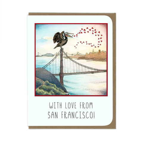 SF Pelican Greeting Card