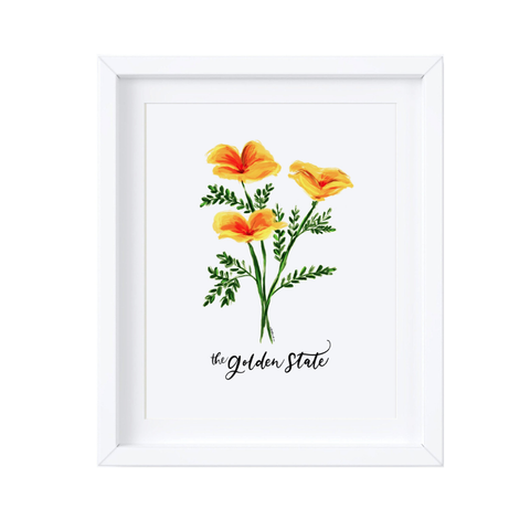 Golden Poppies Print