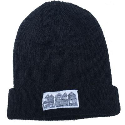 Victorian Houses Patch Beanie
