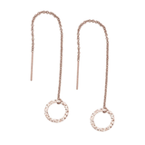Hammered Circle Ear Threaders