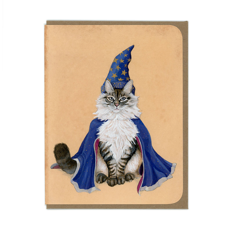 Wizard Kitty Greeting Card