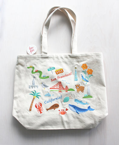 SF Embroidered Tote