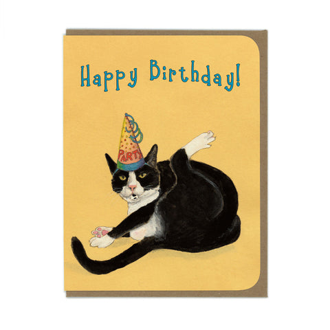 Party Cat Birthday Greeting Card