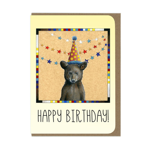 Bear Cub Birthday Greeting Card