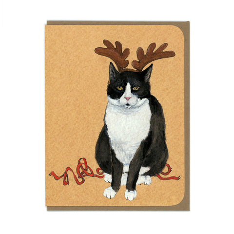Reindeer Cat Card