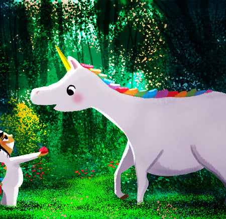 Two Unicorns print