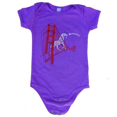 Unicorn on the Golden Gate Bridge Baby Onesie