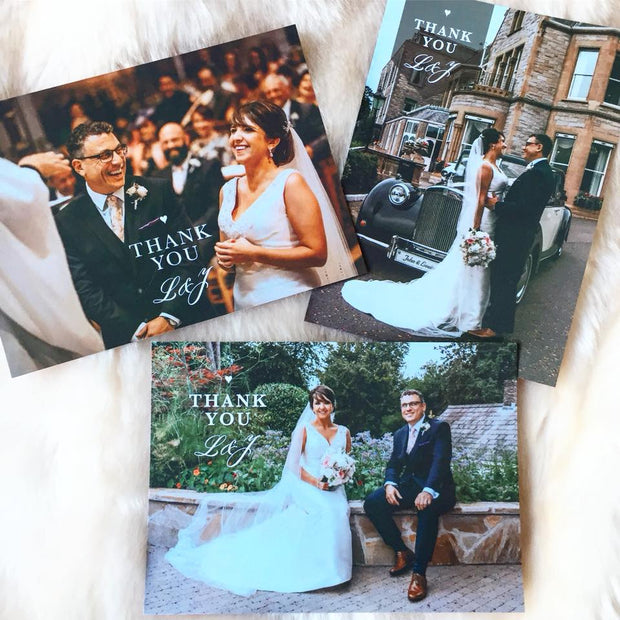 Wedding Photo Thank You Card (Flat)