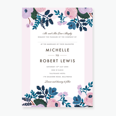 Blush Wedding Invitation