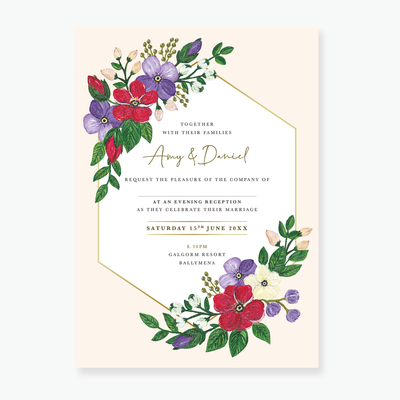 Bold Blooms Evening Invitation