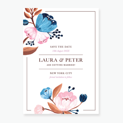 Flora Save the Date card