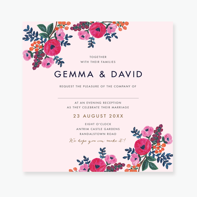 Floral Celebration Evening Invitation