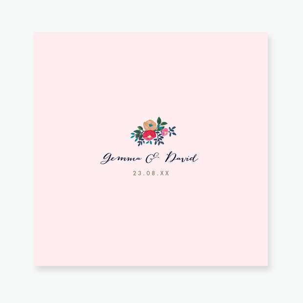 Floral Celebration Save the Date Card