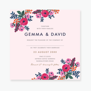 Floral Celebration Wedding Invitation