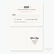 Heart to Heart RSVP Card