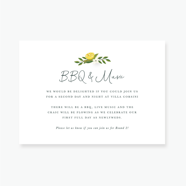 Lemon Garden Enclosure Card