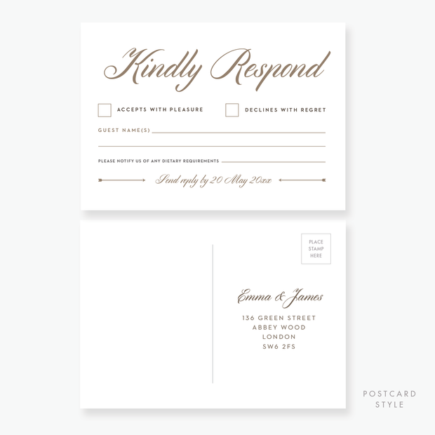 Luxe RSVP Card