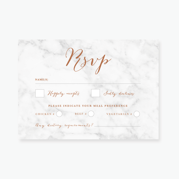 Marble RSVP Card