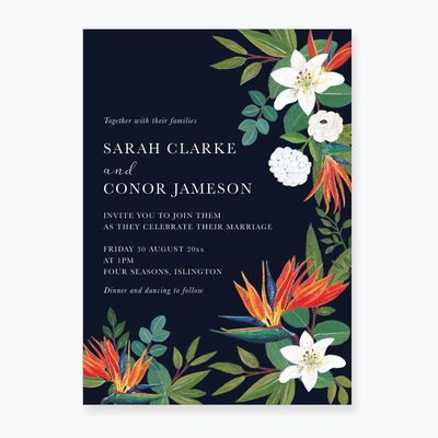 Bird of Paradise Wedding Invitation