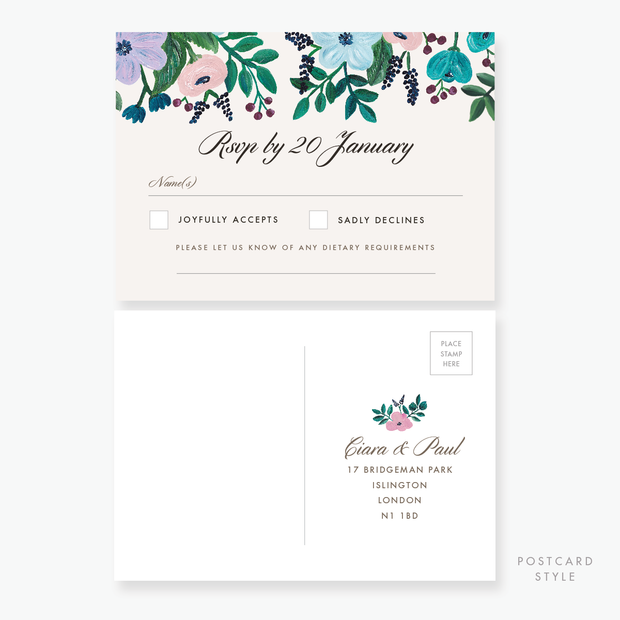 Painterly RSVP Card