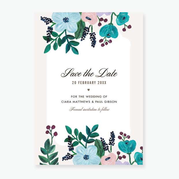 Painterly Save the Date Card