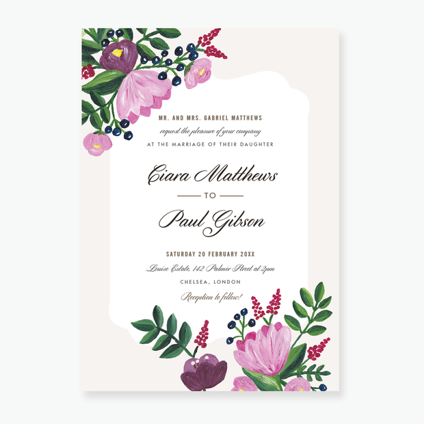 Painterly Wedding Invitation