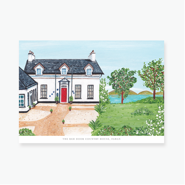 The Red Door Country House Art Print