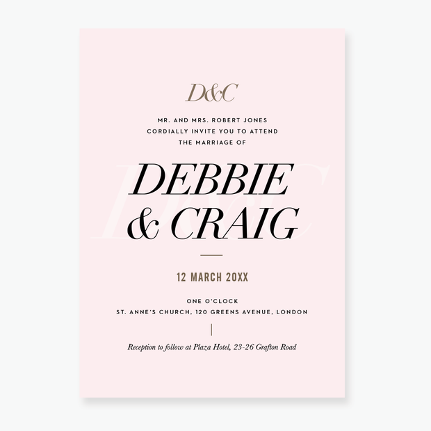 Spotlight Wedding Invitation