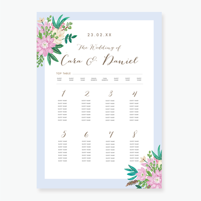 Romance Table Plan