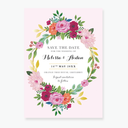 Wild Rose Save the Date Card