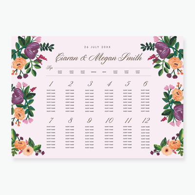 Allure Table Plan