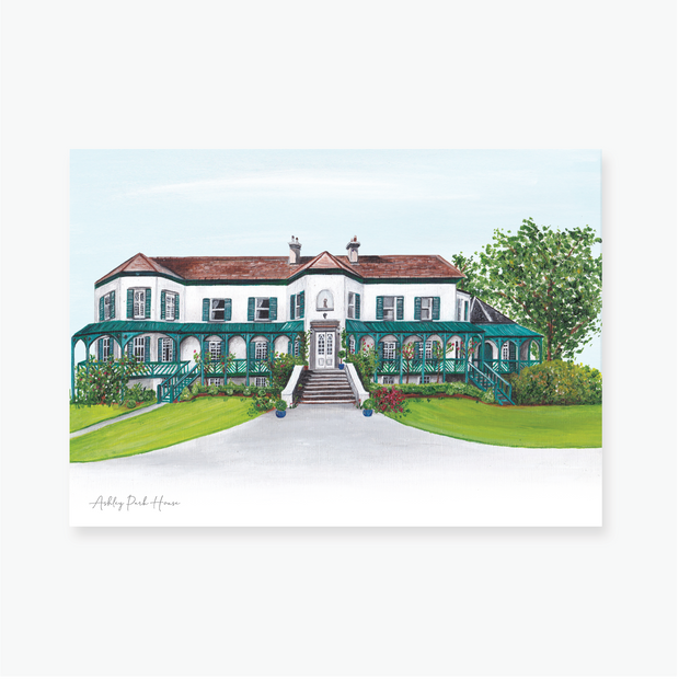 Ashley Park House Art Print